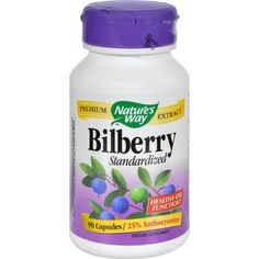 Nature's Way Bilberry Standardized - 80 Mg - 90 Capsules - 0591321