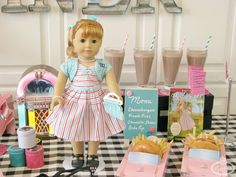 American Girl Doll Birthday Party ideas on the Via Blossom Blog!