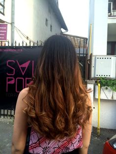 Balayage ombre highlights
