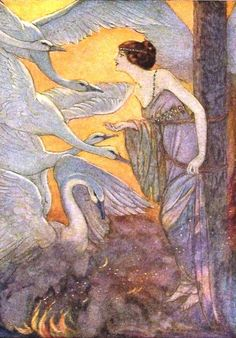 Elenore Abbott for The Six Swans from Grimm's Fairy Tales,  Charles Scribners' Sons,