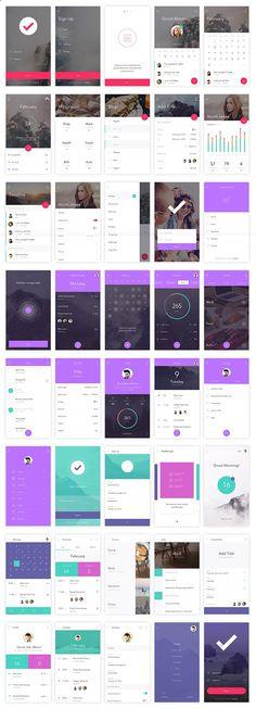 Free Download : DO App UI Kit (130 Screens, 10 Unique Themes, 250  UI Elements)