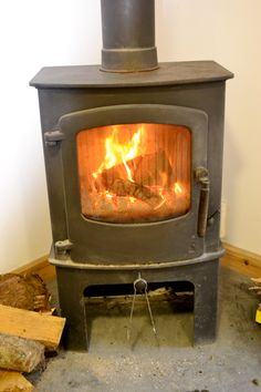 The cosy fire in the Ridge cafe