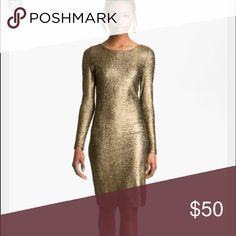 Brand new Alice + Olivia dress! Gorgeous dress...never worn! Just doesn't fit anymore 😕 Beautiful gold dress...selling at a low price just to get off our hands! Perfect for New Years! Alice + Olivia Dresses Long Sleeve