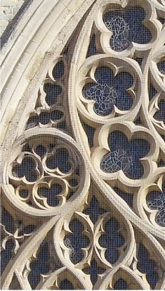 Gothic Architecture, this shows tracery, rossettes, quatrofoils  trefoils.