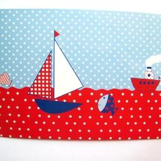 Carte postale thème marin
