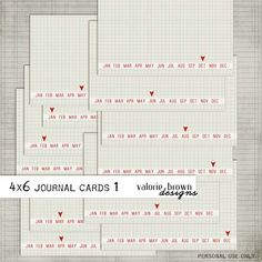 2 sets of really cute (and free) Project Life 4x6 journaling card printables