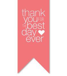 "diy this ""best day ever"" label #diy #weddingstationery #thankyou http://www.betsywhite.com/best-day-ever-label-rose-6053-prd1.htm"