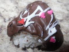 Homemade Mounds Candy (or add almond for Almond Joy)