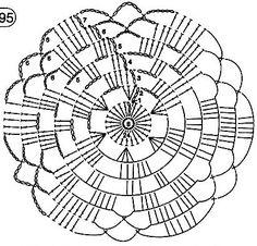 Crochet Square Patterns, Crochet Doily Patterns, Crochet Diagram, Crochet Squares, Crochet Designs, Crochet Doilies, Crochet Flowers, Crochet Stitches, Crochet Scrubbies