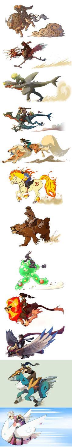 The Great Pokemon Race! Tauros, Dodrio, Garchomp, Arcanine, Rapidash, Ursaring, Reuniclus, Pyroar, Pidgeot, Cobalion, Togekiss