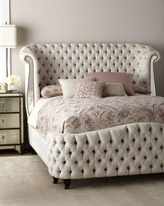 Haute House tufted bed.  #home #bedroom #style #roomdesign (affiliate link)