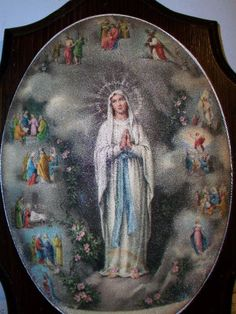 eBlueJay: Je Suis Immaculate Conception Wall Plaque With The 12 Stations of the Cross