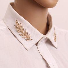 Pins Vintage, Moda Vintage, Vintage Style, Women's Brooches, Vintage Brooches, Collar Clips, Collar Pin, High Collar, Korean Jewelry