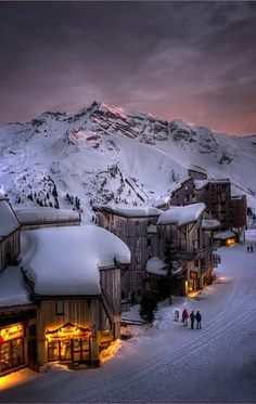 Alpine Glow Sunset, Trois Vallées, The French Alps
