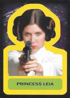 2015 Topps Star Wars Journey to the Force Awakens Stickers Princess Leia