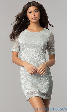 Sequin Cocktail Dresses, Long Prom Gowns with Sequins