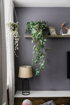 The Best Purple Wall Paint Color Comes from a Surprising Source – Apartment Therapy The Best Purple Wall Paint Color Comes from a Surprising Source We Found the Best Purple Paint Color for Interiors Grey Purple Paint, Purple Walls, Plum Paint, Neutral Paint, Gray Paint, Purple Living Room Paint, Purple Grey Rooms, Dark Purple Bedrooms, Grey Wall Color
