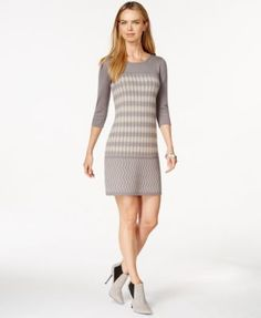 Spense Petite Sheath Sweater Dress