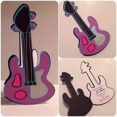 Rockstar Guitar Invitation by HotPinkStudios on Etsy