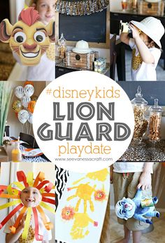 Lion Guard Safari #DisneyKids Playdate Party Ideas #ad