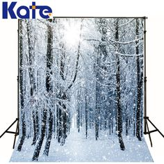 Fantasy Hole Photography Background Snow Studio Prop Vinyl Photo Backdrops 5x7ft