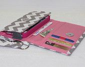 NEW STYLE TECH Cell Phone Case Wristlet iPhone Droid Wallet for Smart Phones / Gray Twill Gray Chevron. $29.95, via Etsy.