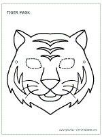 Tiger mask coloring sheet