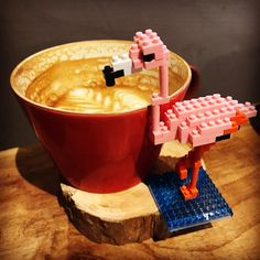 "3 mentions J'aime, 1 commentaires - Alfred S (@brealfreds) sur Instagram : ""#nanoblock #lego #coffee #flamingo"""