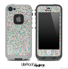 Colorful Small Sprinkles Skin for the iPhone 5 or 4/4s LifeProof Case on Wanelo