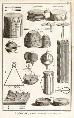 Diderot on Musical Instrument Making #music #history #drums