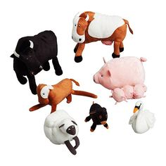 what a cute little animal set for a kiddo. great for farm themed party favors or a birthday gift.