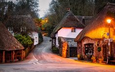 Ancient Village, Devon, England This looks like a very peaceful place to live