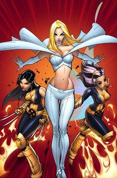 X-Men #205//J. Scott Campbell/C/ Comic Art Community GALLERY OF COMIC ART