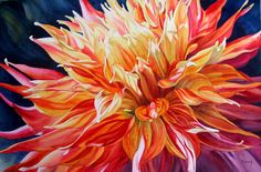 """Photo from album """"Marney Ward, цветы акварелью"""" on Yandex. Watercolor Artists, Artist Painting, Watercolor Flowers, Painting & Drawing, Watercolor Paintings, Flower Paintings, Watercolours, Wow Art, Beautiful Paintings"""