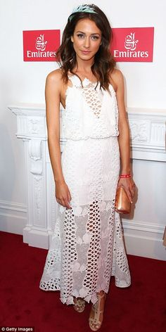 Wonderful in white: Home And Away star Isabella Giovinazzo and Lady Kitty Spencer stunned in classy white coloured dresses Everyday Casual Outfits, Everyday Dresses, Celebrity Outfits, Celebrity Style, Stakes Day, Home And Away, Silk Dress, Style Guides
