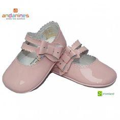 33a67a53d32 Merceditas bebé niña sin suela charol rosa andanines
