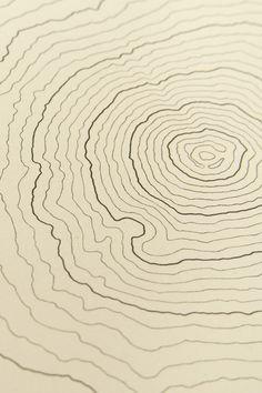 Fujisan   Custom topographic map drawign of Mt Fuji, Honshu, Japan. Decorative map. Unique gift to remember Japan. Cotton paper, 300 gsm.