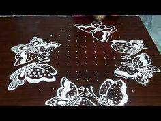 Easy Rangoli Patterns, Simple Rangoli Kolam, Rangoli Designs Latest, Rangoli Designs Flower, Rangoli Border Designs, Rangoli Ideas, Rangoli Designs Diwali, Rangoli Designs With Dots, Rangoli Designs Images