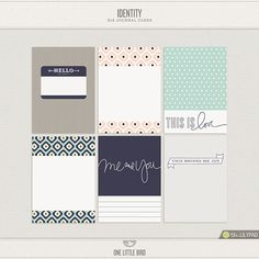 Identity Journaling Cards