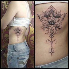 Flor de lotus ornamental com inspiração indiana by @renetattoo #sevenstarstattoo #brasiltattoo ...