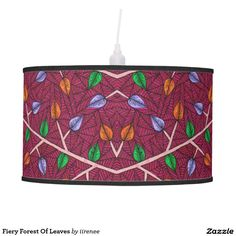 Fiery Forest Of Leaves Table Lamps