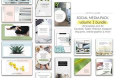 Volume 1 Bundle for Social Media by EllameeCreative on @creativemarket #socialmedia #socialmediamarketing #posts #instagram #design #creative #influencer #photoshop #stylish #modern #marketing #template #stories #fashion #animated