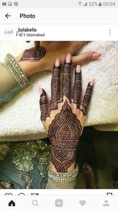 Henna Design By Fatima Henna Hand Designs, Dulhan Mehndi Designs, Mehndi Designs Finger, Indian Henna Designs, Mehndi Design Pictures, Wedding Mehndi Designs, Mehndi Designs For Fingers, Mehndi Art Designs, Mehndi Patterns