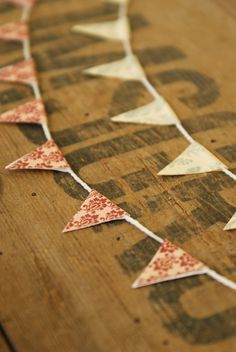 Miniature Bunting Decoration by Artistique on Etsy, £3.50