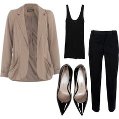 #whatiworetoday This look is super slimming and a good smart/casual for the office, For hair and makeup @kimkardashian smoky eyes and a ruffled @victoriabeckham pony. #fashion