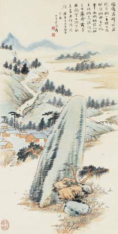 zhang, daqian jing ting mounta ||| landscape ||| sotheby's n09675lot9gw93en