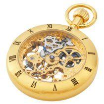 Charles-Hubert, Paris Gold-Plated Open Face Mechanical Pocket Watch