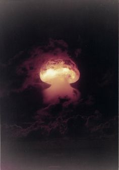 Nuclear test 'Operation Dominic' over Christmas Islands. 1962. A series of thirty-six nuclear test explosions were conducted by the US government in 1962. President Kennedy authorized 'Operation Dominic' in response to Russia's detonation of the Tsar Bomba.