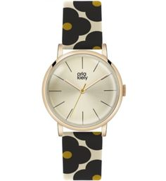Buy Green/Cream Orla Kiely Women's Floral Strap Leather Strap Watch from our Women's Watches range at John Lewis & Partners. Orla Kiely Watch, Orla Keily, Apple Watch Accessories, Green Cream, Black Cream, Watch Sale, Stainless Steel Case, Cool Watches, Watch Bands