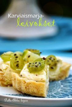 Pulla-Akka leipoo: Karviaismarja-leivokset